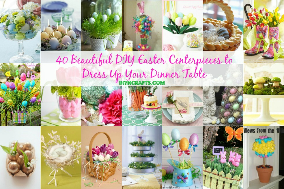easter decorating ideas to beautify your easter Facebook - 40 Beautiful DIY Easter Centerpieces to Dress Up Your Dinner  Table
