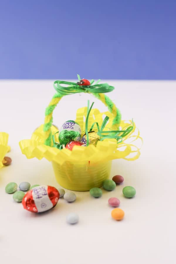 Cute Recycled Plastic Cup Easter Egg Basket
