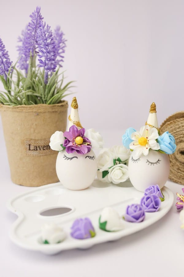 Adorable DIY Unicorn Easter Eggs