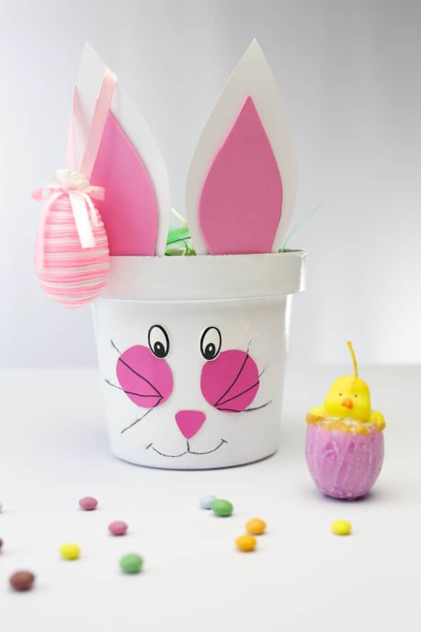 Repurposed Planter Easter Bunny