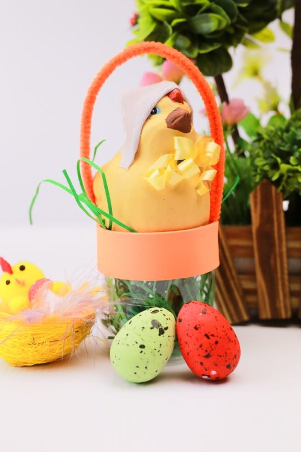 Cute Repurposed Bottle Easter Basket Decoration