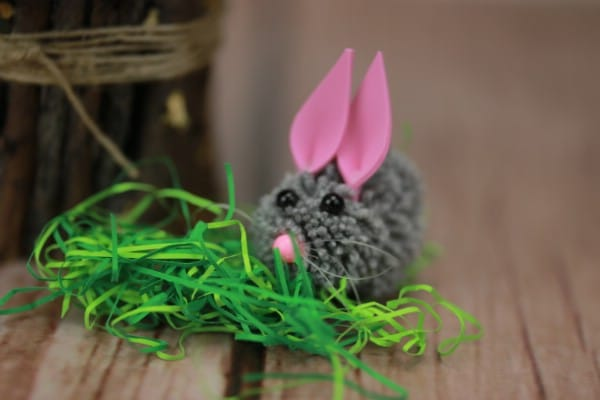The Most Adorable DIY Pom Pom Easter Bunny