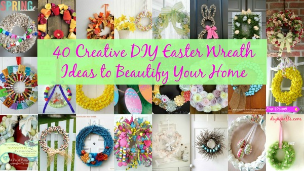 42 Creative Diy Easter Wreath Ideas To Beautify Your Home Diy Crafts