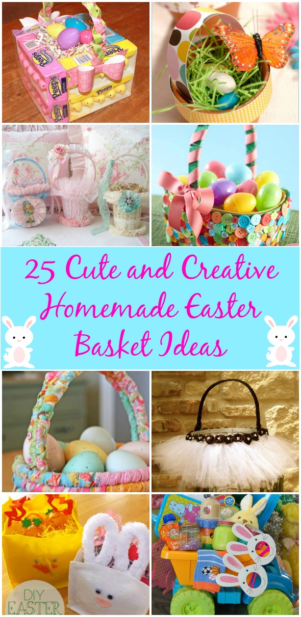 36 Cute and Creative Homemade Easter Basket Ideas - DIY & Crafts