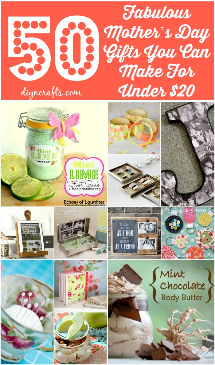 50 Fabulous Mother S Day Gifts You Can Make For Under 20 Diy