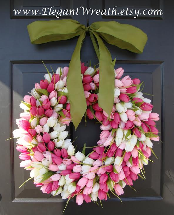 Beautiful Tulip Wreath