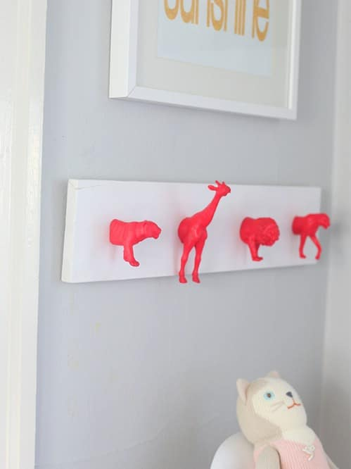 Neon Nursery Wall Hooks - 15 Unusual and Creative Repurposed Wall Hooks
