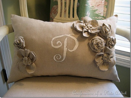 Pottery Barn Inspired Frenchy Pillow