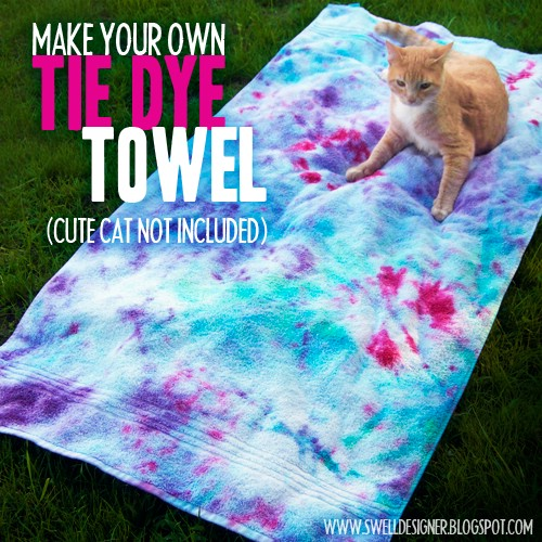 Beach Blanket Experiment: 40 Cool Tie Dye Projects To Add Color To Your Summer