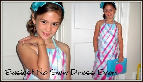 Girls No-Sew Tie Dyed Dress