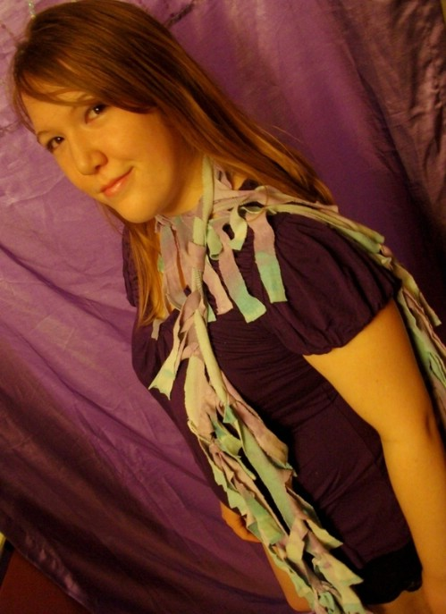 Tie Dyed Scrappy Scarf
