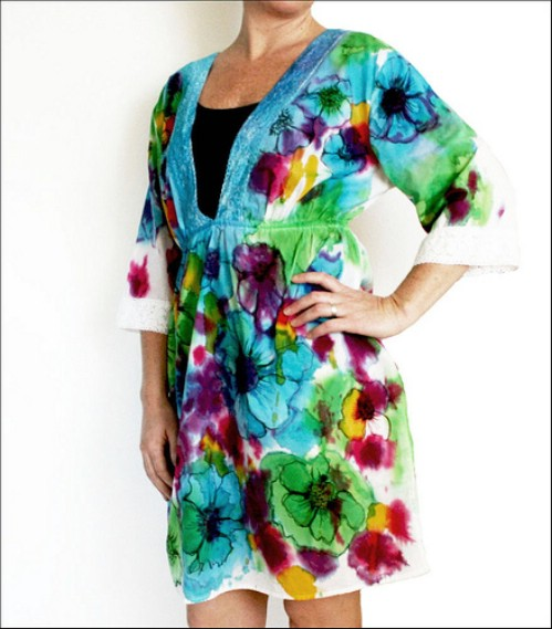 Tie Dyed Watercolor Tunic
