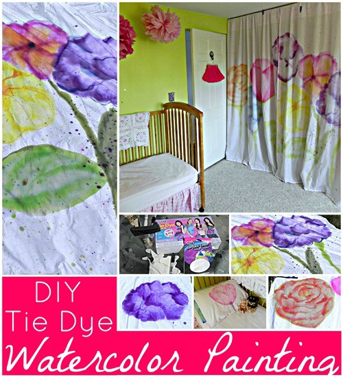 Tie Dye Watercolor Curtains