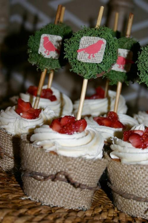 Burlap Cupcake Wrappers