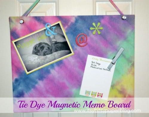 Tie Dye Magnetic Memo Board