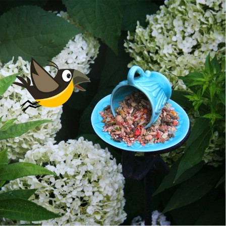 Make Bird Feeders From Broken Teacups