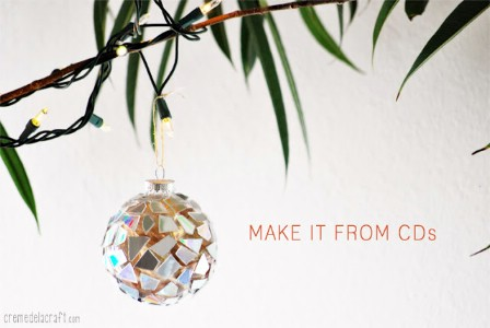 Make Christmas Ornaments With Broken CDs