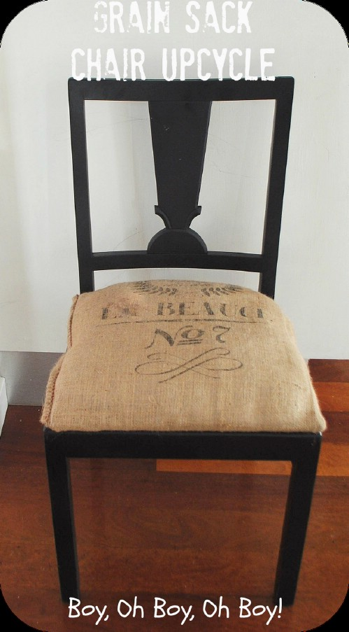 Burlap Covered Kitchen Chair