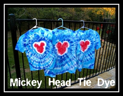 Mickey Mouse Tie Dye Shirts