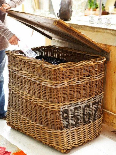 Create a Recycling Center with an Old Basket