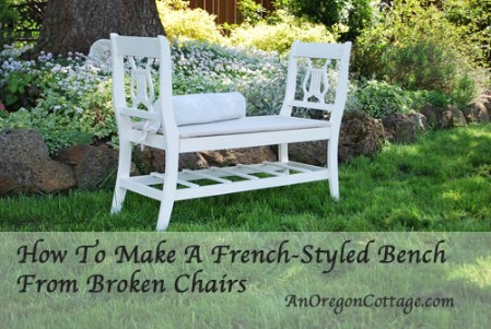 Create A French Styled Bench From Broken Chairs
