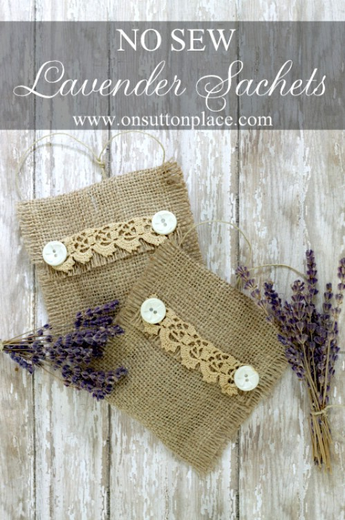 DIY Instructions Onsuttonplace No Sew Burlap Sachets