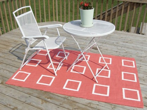 Easy Outdoor Burlap Rug