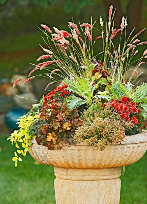 Birdbath Flower Beds