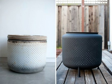 Build A Fire Pit From A Broken Washing Machine