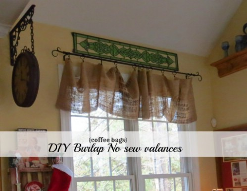Burlap Coffee Bag Curtains