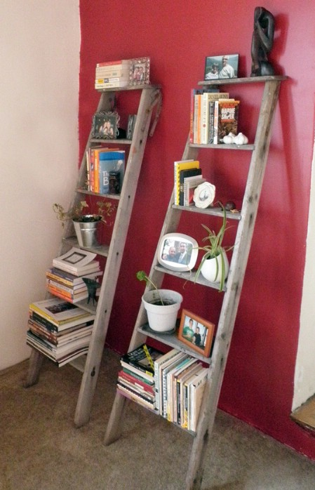 Turn Broken Ladders Into Bookshelves