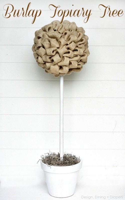 Burlap Topiary
