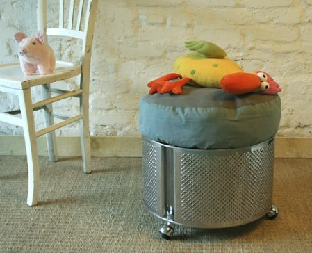 Turn A Washing Machine Drum Into A Neat Stool