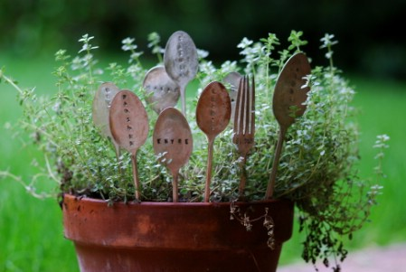 Turn Broken Silverware Into Plant Markers