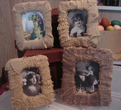 Burlap Picture Frames