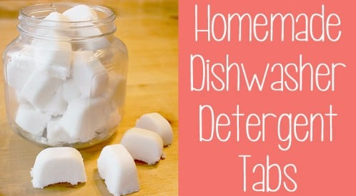 Make Homemade Dishwasher Detergent Tablets