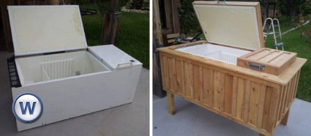 Turn A Broken Refrigerator Into An Outdoor Ice Chest