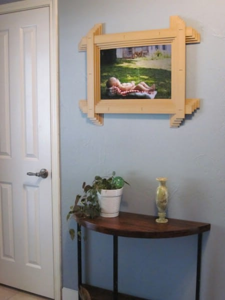 Build Picture Frames From Broken Mini Blinds