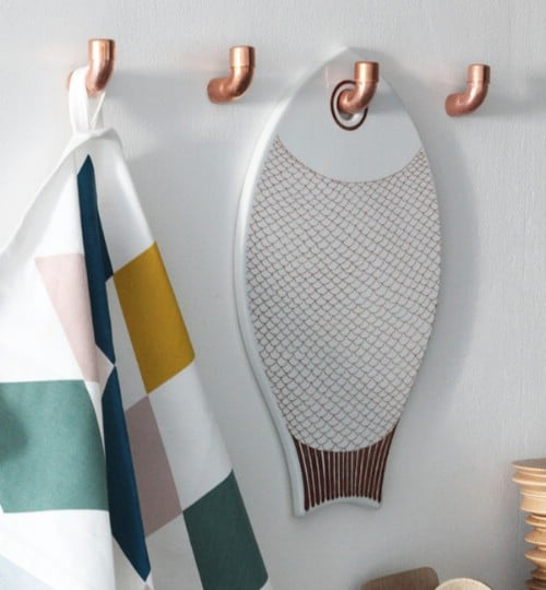 Copper Kitchen Hooks - 15 Unusual and Creative Repurposed Wall Hooks