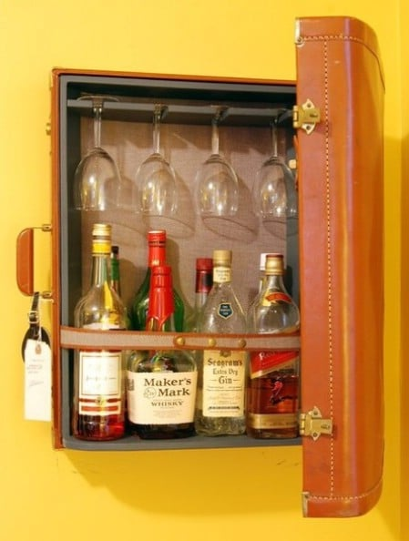 Turn A Broken Suitcase Into A Medicine Cabinet