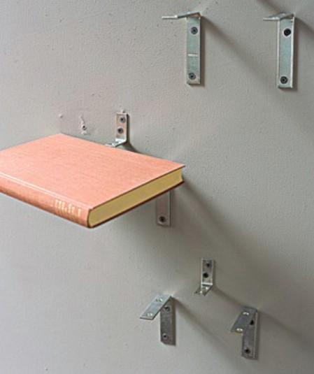 Make Shelves From Torn Books