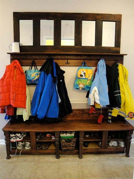 Turn A Broken Door Into A Coatrack