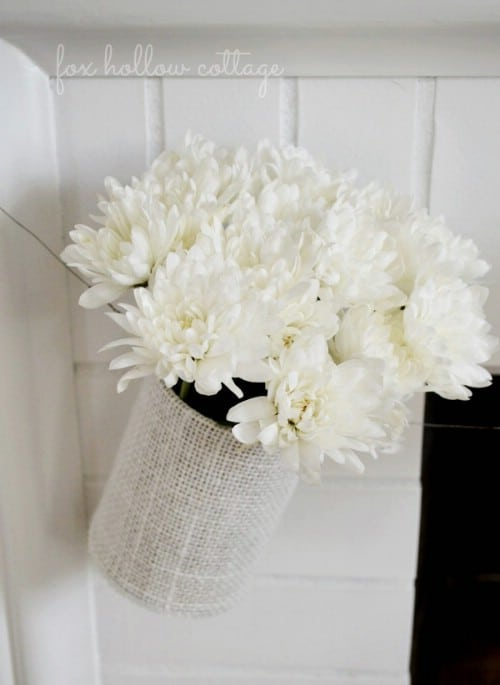 Burlap and Tin Can Vase Garland
