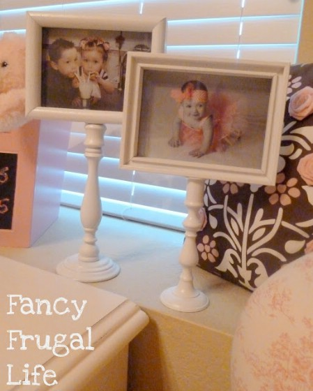 Create Pedestal Picture Frames From Broken Materials