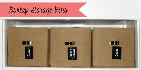Burlap Storage Bins
