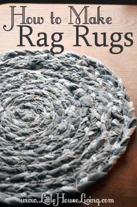 Make Rag Rugs From Torn Clothing