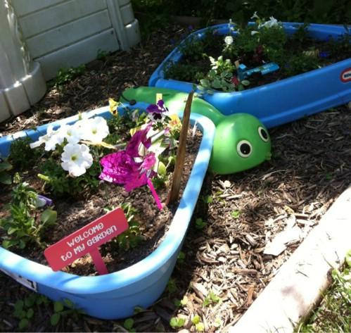 Kiddie Pool Flower Bed