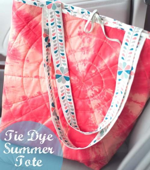 Tie Dye Summer Tote