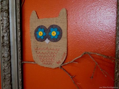 Burlap Owl Wall Hanging