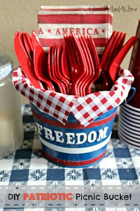 Turn Leaky Buckets Into Outdoor Serving Items